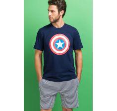 8348 pijama masculino capitao America