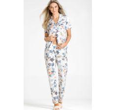 8154- Pijama Cardigan calça Mixte By Marlene