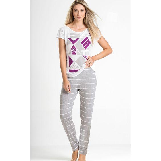 8253-D pijama feminino de modal