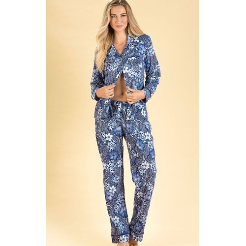 8400-pijama  feminino cardgan com calça