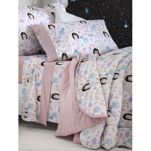Jogo de cama Princesas detalhes
