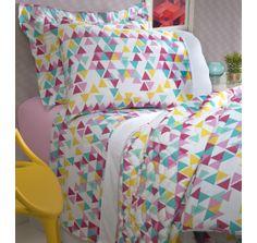 Jogo de cama Triangulo-detalhe