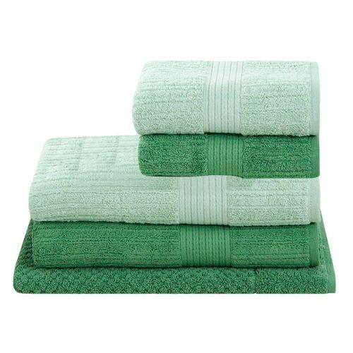 Jogo-de-banho-canelado-fio-penteado-verde-5-pcas