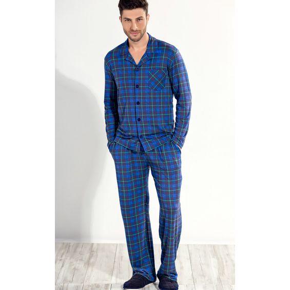 8070 pijama masculino xadrez