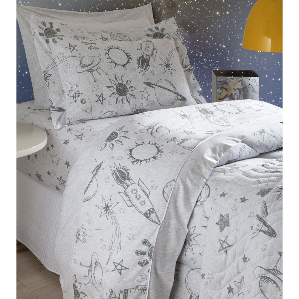 Jogo de cama Infantil espaço