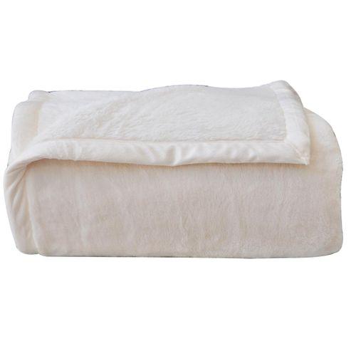 Cobertor-Luxo-Marfim Naturalle Fashion