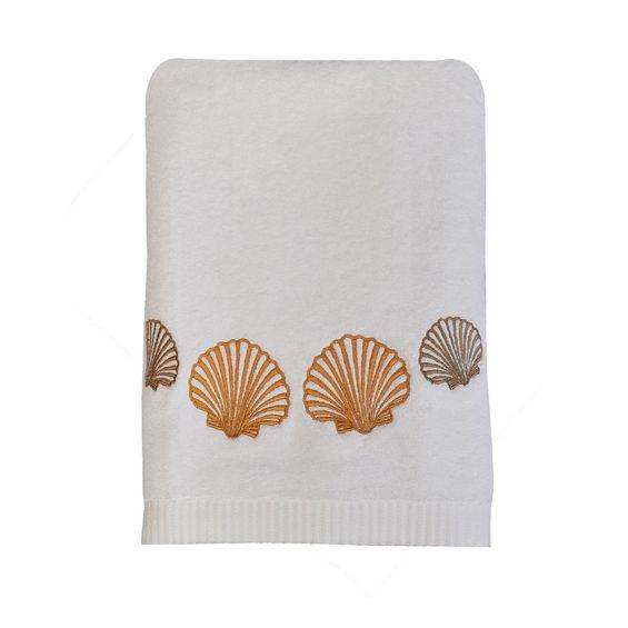 Toalha-de-banho-conchas-dourada