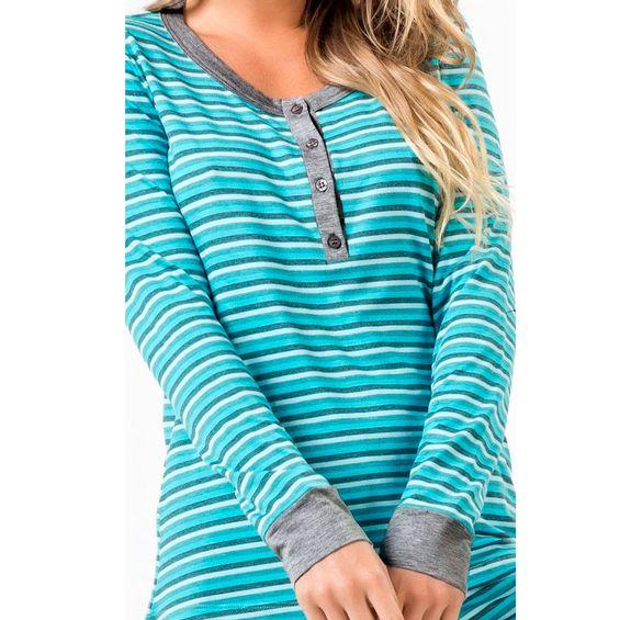 Detalhe-pijama-8847-Listrado-Green-Azul