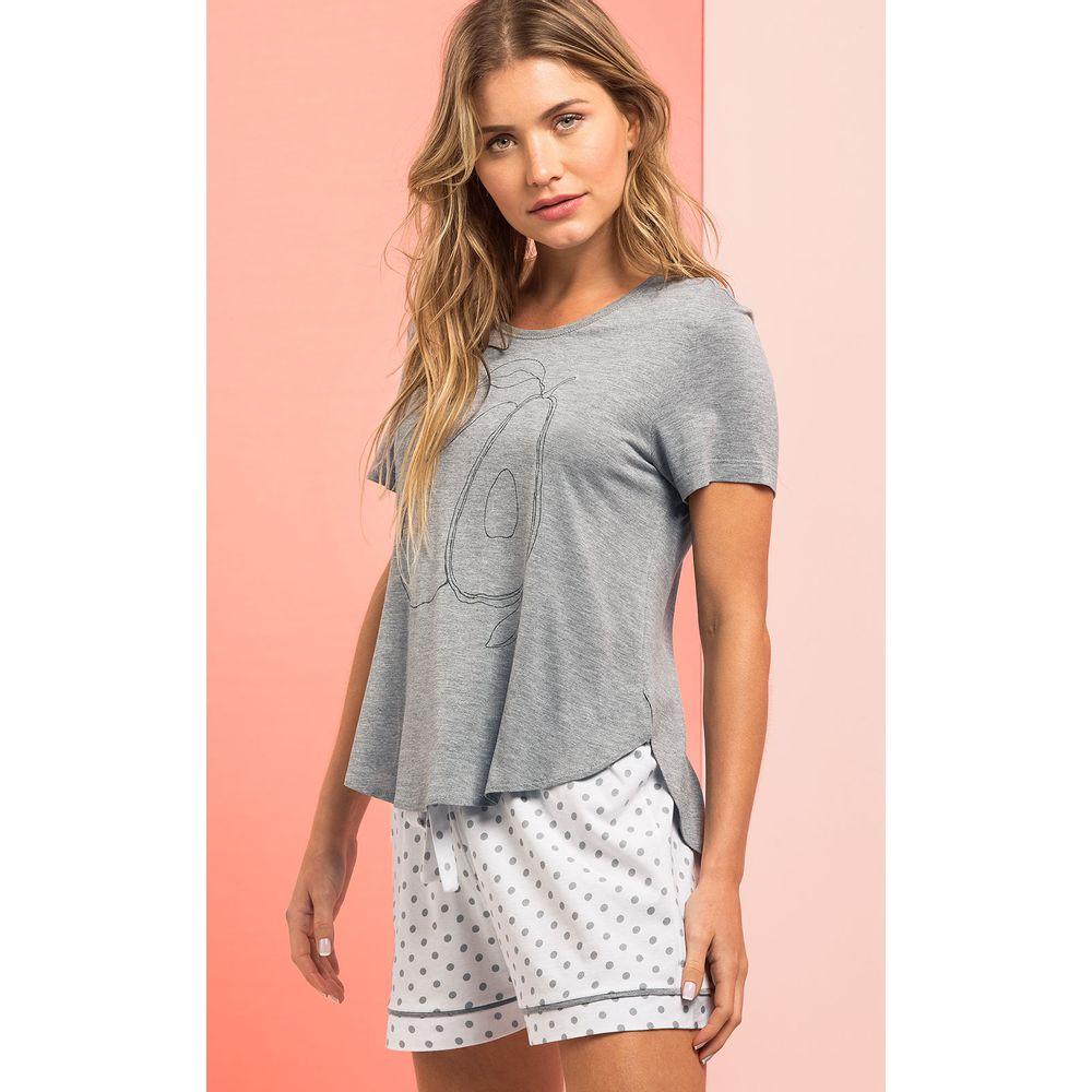 9014- Pijama Feminino Mixte