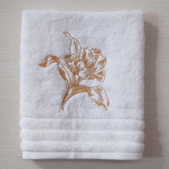 Toalha-de-lavabo-Tulipe-Bordada-Dourada