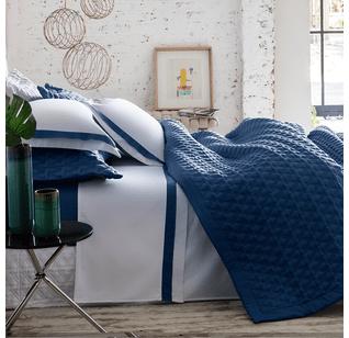 Jogo de lençol 300 fios St-Germain-Azul-marinho