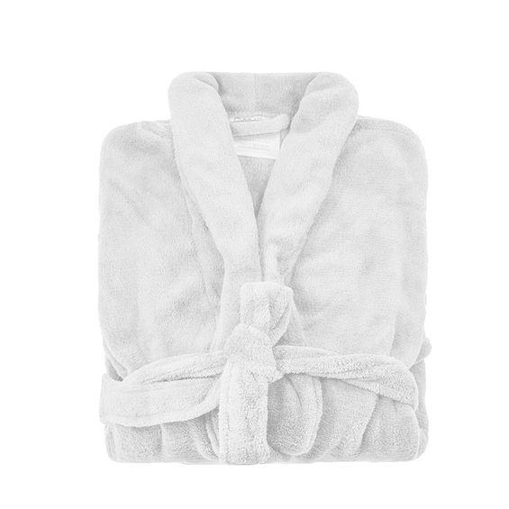Roupao microfibra fleece Branco