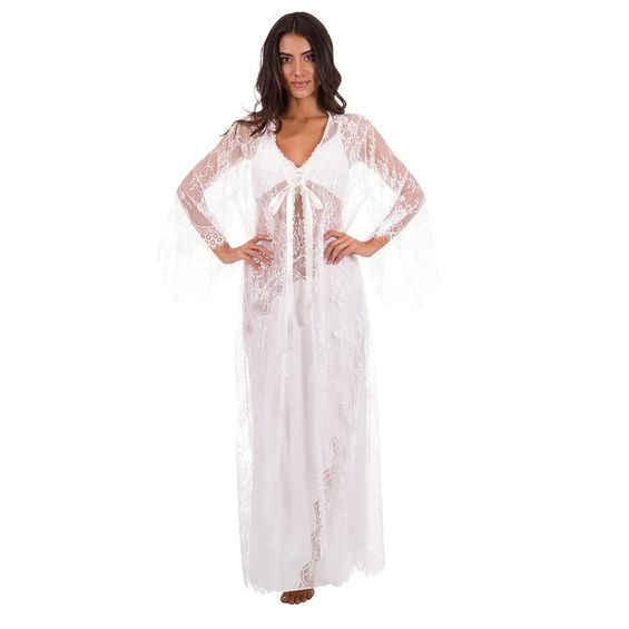 Camisola-Mais-Robe-em-Renda-Under-Cool-Branco