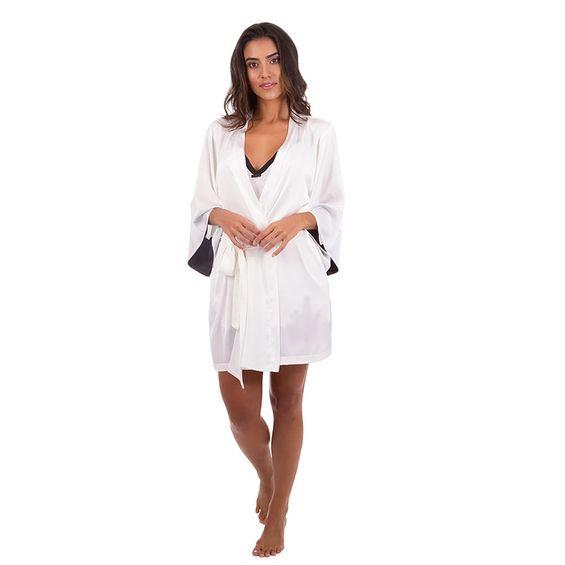 Camisola-mais-Robe-Curto-Em-seda-com-renda-Branco