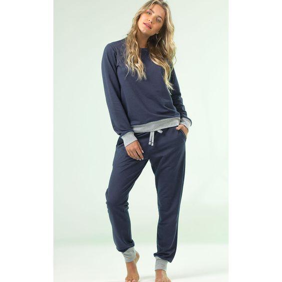 8853-pijama-de-inverno-Mixte-Azul