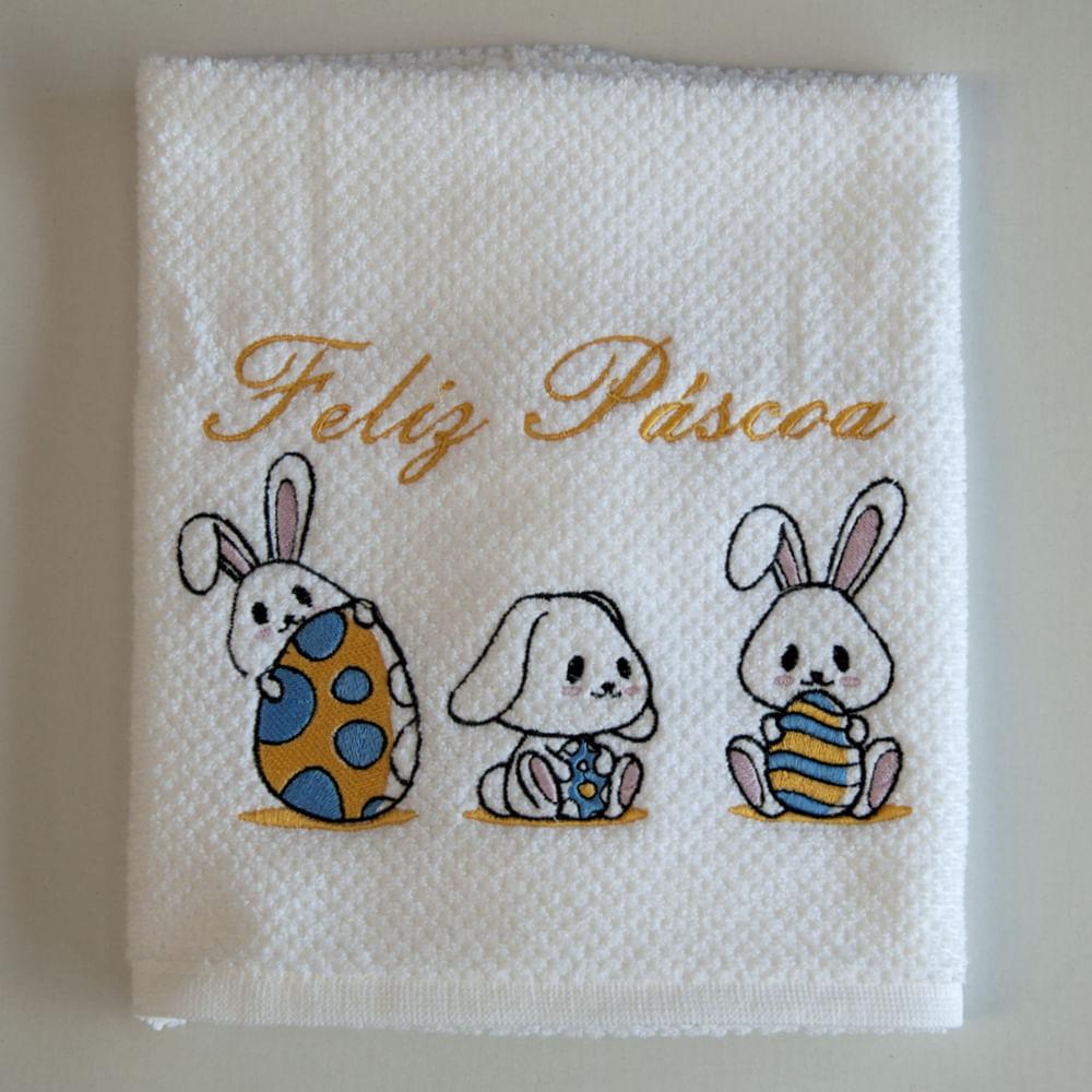 Pano-de-copa-bordado-trio-de-coelhos-amarelo