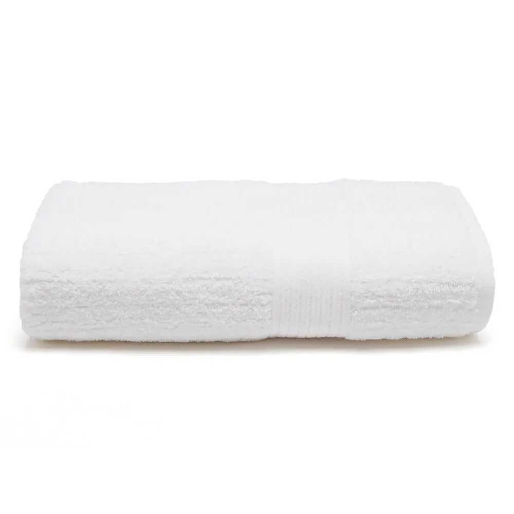 toalha de banho fio penteado canelada branca