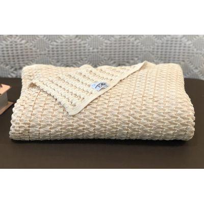 Manta-monica-tricot-bege