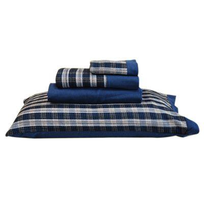 Jogo-de-lencol-flanela-Azul-Marinho